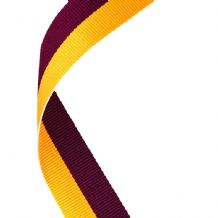 MAROON/YELLOW RIBBON TWO COLOUR